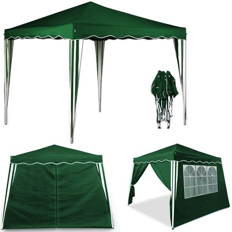 faltpavillon 3x3 pop up gazebo 3x3m with 4x side walls panells folding tent