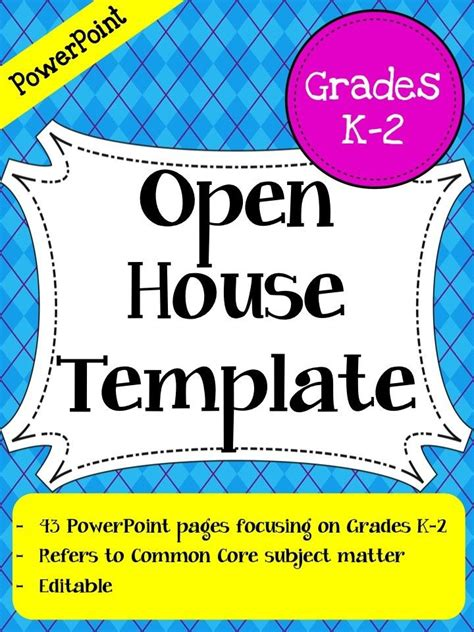 Open House Powerpoint Template Grades 3 5 This Open House Powerpoint Has 46 Pages Of Open House Powerpoint Template