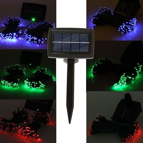 100 leds solar outdoor light waterproof led string fairy