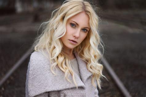 film actress blonde hair wallpaper face women outdoors blonde depth of field