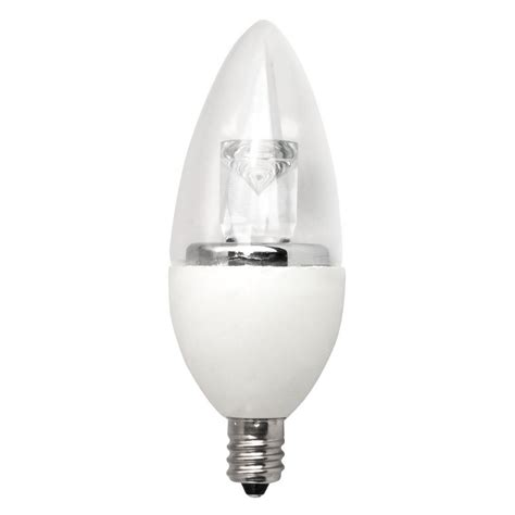 Tcp Led Light Bulbs Tcp 40w Equivalent Daylight B11 Dimmable Led Light Bulb 12 Pack Ldct40w50k12 The Home Depot