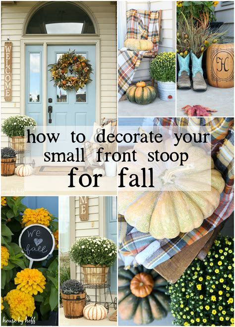 How To Decorate Your Home For Fall How To Decorate Your Small Front Porch For Fall House By Hoff