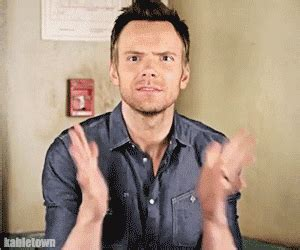 excited gif excited joel mchale gif find on giphy