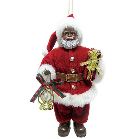 african american santa claus christmas ornament black