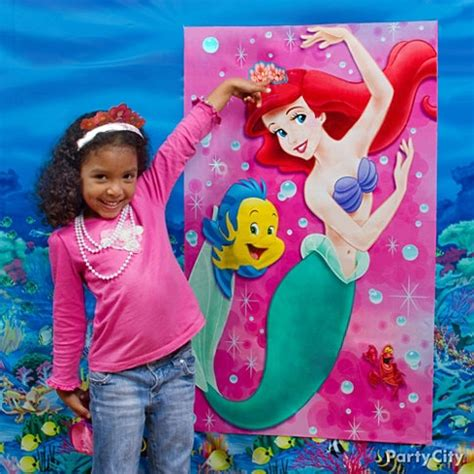 little mermaid theme crown ariel as a true princess with