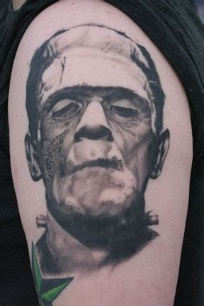 bill byers tattoos frankenstein
