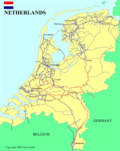 boating european canals netherlands map canals