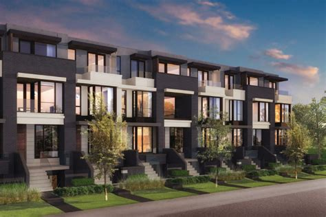 Small Townhouse Floor Plans by Block Modern Homes For Sale At College And Ossington