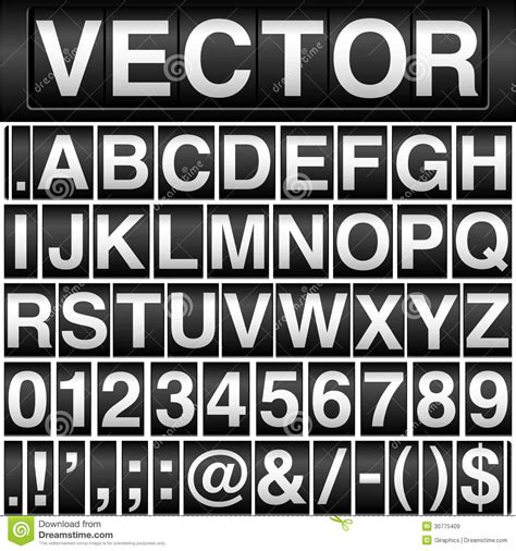 crestock royalty free stock photos vector odometer alphabet and numbers stock vector image 30775409