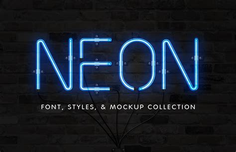 font neon neon font effect collection medialoot