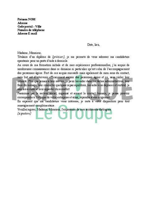 Lettre De Motivation Apb Aide lettre de motivation d une aide 224 domicile pratique fr