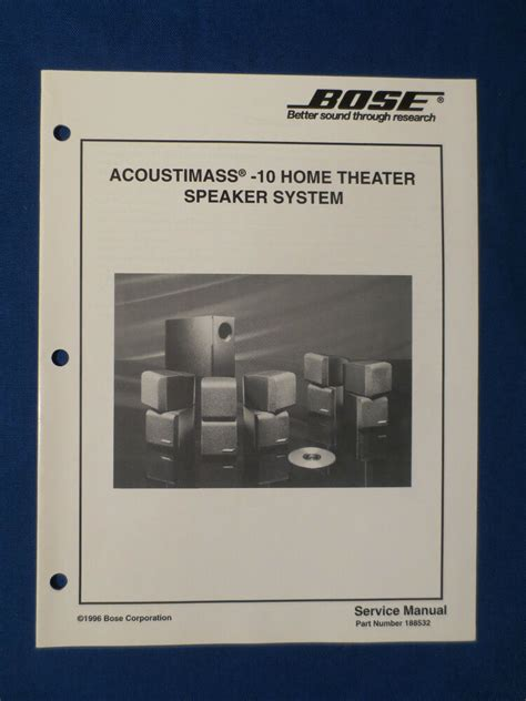 bose acoustimass  home theater speaker service manual