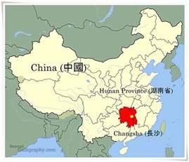 Hunan China Map hunan china map