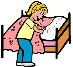 make bed clipart english exercises my life at home