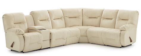 best reclining sectional sofa casual reclining sectional sofa with storage console and
