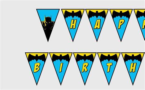 printable brave birthday banner printable batman happy birthday banner superhero party