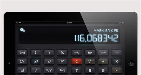 Ipad Psd Landscape Calculator Ui Kit Mobile Apps Pixeden Landscape Calculator