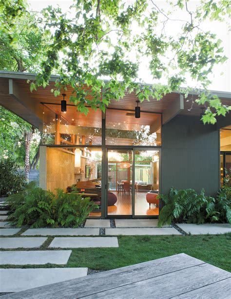 backyard overhang creative landscape design for a renovated eichler in