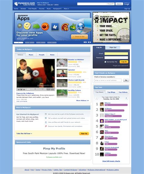 Search For In Myspace Redesign A Step In Bringing Order To The Myspace Chaos Techcrunch