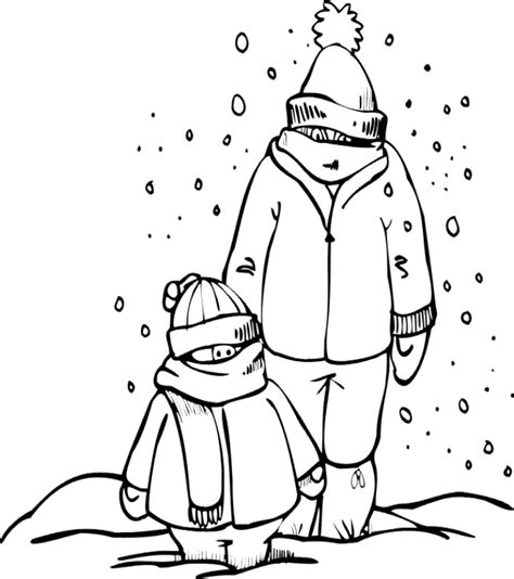 winter clothing coloring pages coloring home