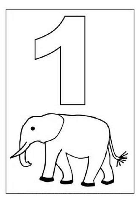 picture of number 1 for kids loving printable