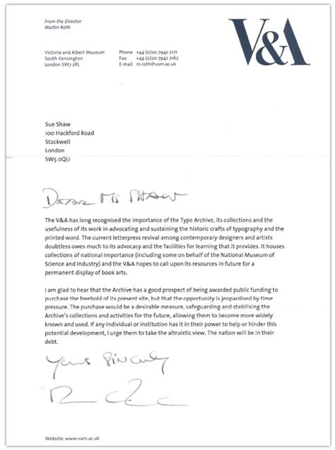 Release Letter Uws letter from the v a