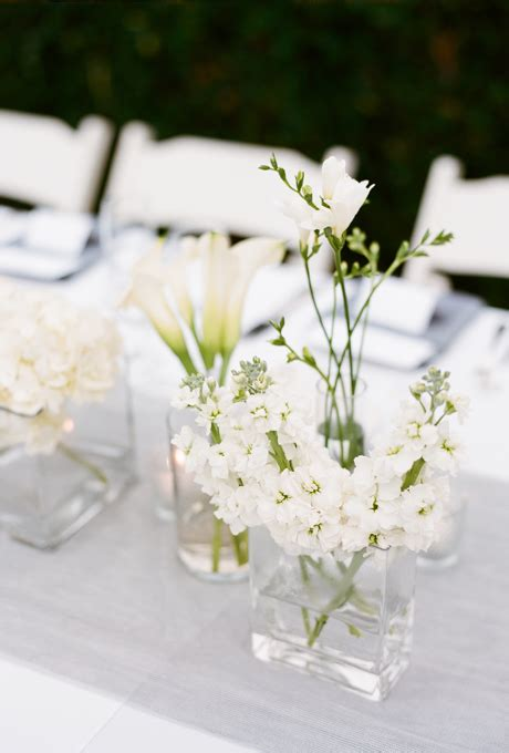 simple floral wedding centerpieces white centerpiece