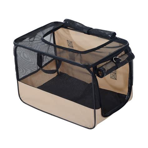 pet car seat carrier pawhut folding pet car seat cat carrier safety belt