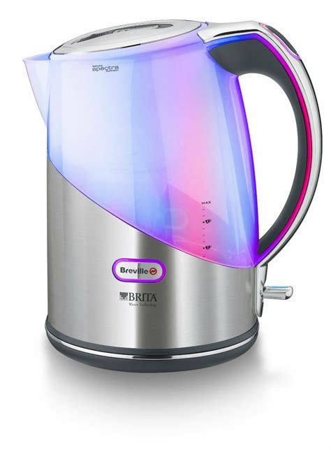 brita filter kettle small kitchen appliance electric breville brushed stainless steel brita filter kettle with