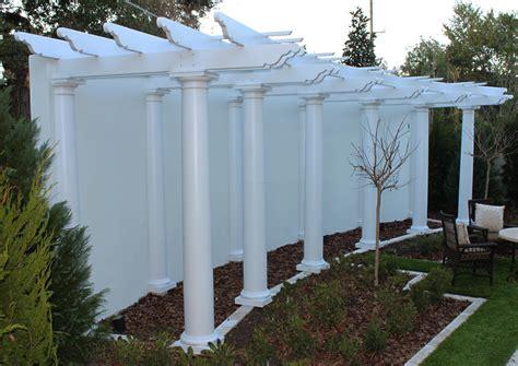 Garden Columns attached garden pergola by chadsworth columns www columns 1 800 486 2118