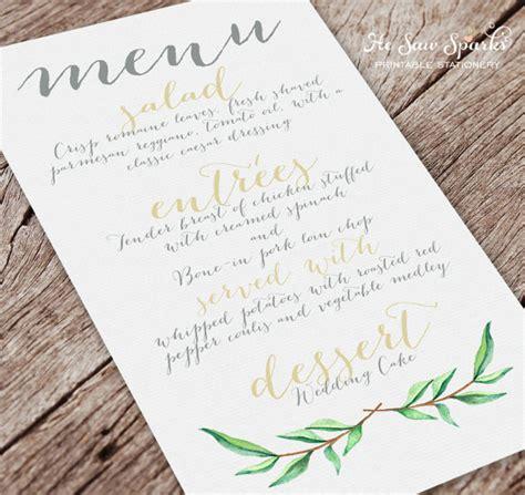 wedding menu template free 37 wedding menu template free sle exle format