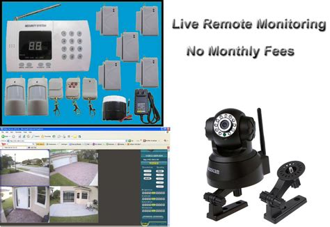 remote monitoring home business wireless security system