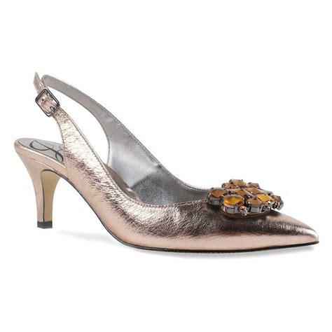 new s j renee makenzie blush metallic nappa slingback dress shoes ebay