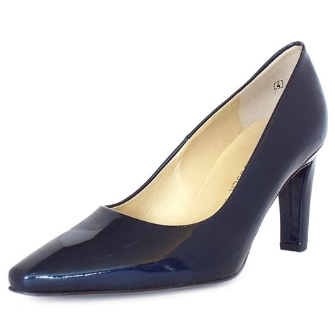 navy patent shoes kaiser tosca iconic court shoes in navy patent