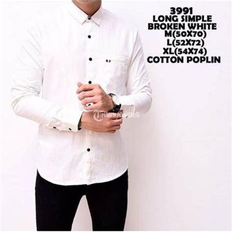 Baju Lengan Panjang Warna Hitam Putih kemeja pria lengan panjang polos warna hitam putih merah slim fit depok dijual tribun
