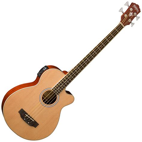 acoustic bass washburn ab5n electro acoustic bass guitar at