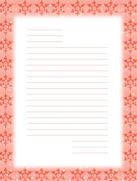 Printable Snowflakes Stationery Paper | free printable writing paper with snowflakes paper