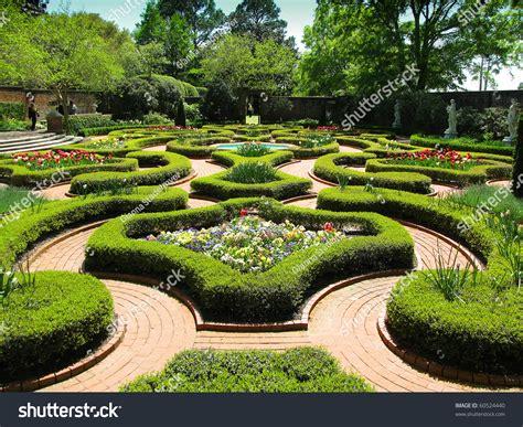 Palace Gardens by Historic Palace Gardens Empty Glimpse Stock Photo
