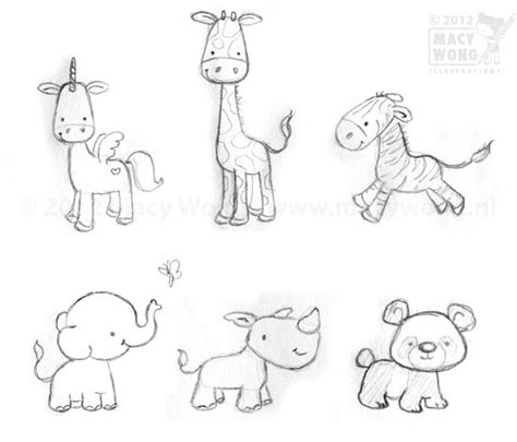 doodle draw animals best 25 baby animal drawings ideas on draw