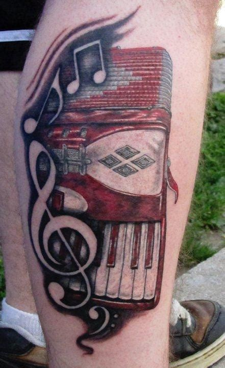 accordion tattoo accordion by matthew davidson tattoonow