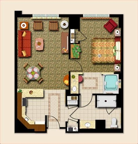 marriott grand chateau 2 bedroom villa floor plan marriott s grand chateau photo 1 br floor plan
