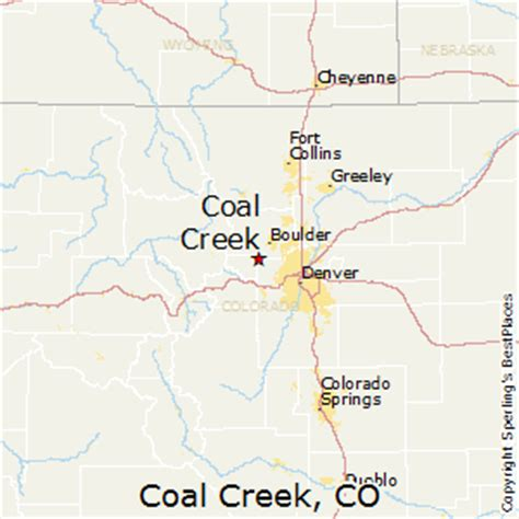 coal creek colorado map best places to live in coal creek colorado