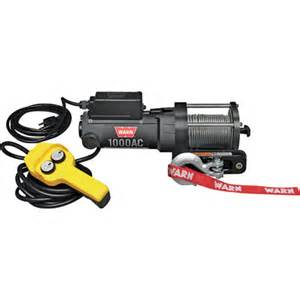 Warn 120 volt ac powered utility winch 1000 lb capacity model