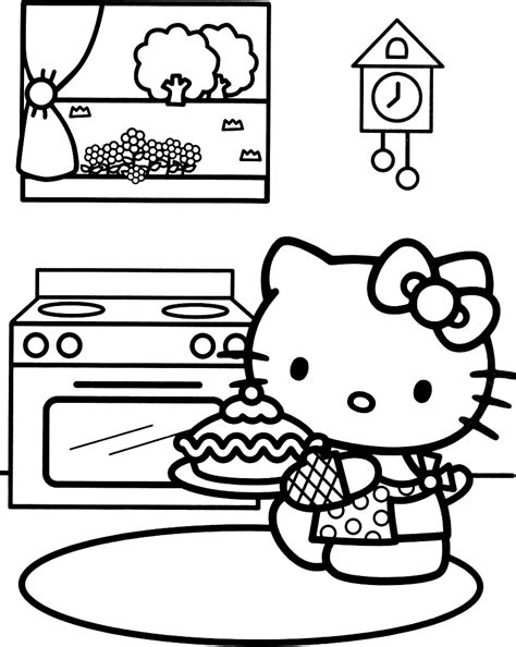 hello kitty baking coloring pages free hello kitty coloring pages image 31 gianfreda net