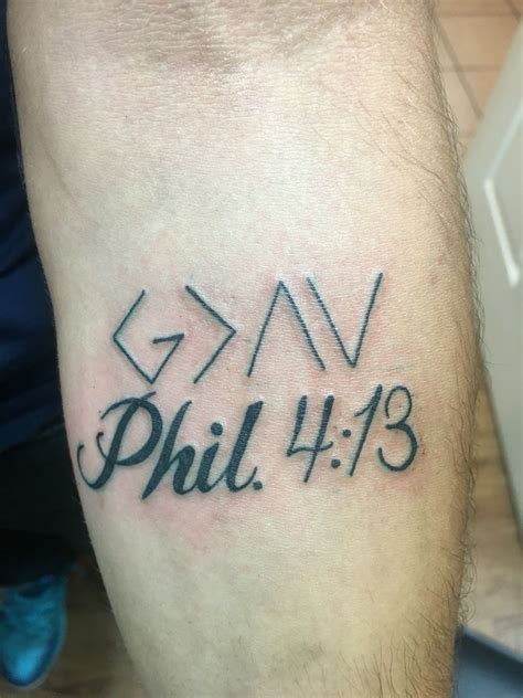 he is greater than i tattoo god is greater than the highs and lows and philippians 4
