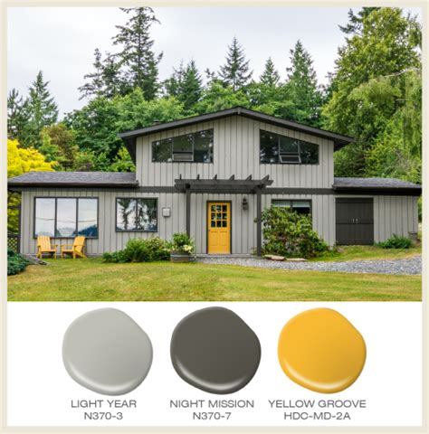 color of the month yellow a yellow door highlights the access to this tone on tone gray
