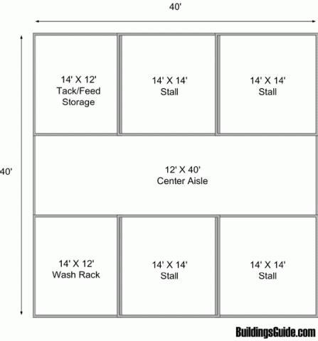 horse barn floor plans 4 stall barn with storage space 1600 sq ft floor plan design