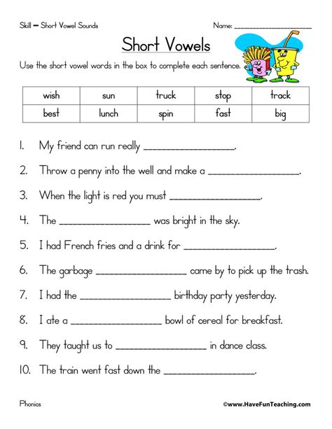 phonics worksheets resources