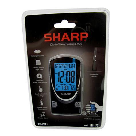 sharp sharp digital travel alarm clock clocks drop