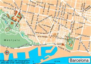 Map Of Barcelona Spain by Map Of Spain Barcelona